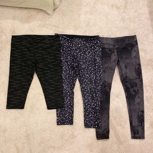 Lucy Activewear three (3) pair workout pants